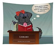 Library Newfie Tapestry