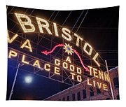Lighting Up The Bristol Sign Tapestry