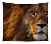 Lion Portrait Tapestry