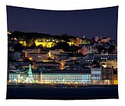 Lisbon In Christmas Time Tapestry