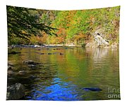 Little River In Autumn In Smoky Mountains National Park Tapestry
