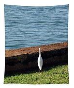 Little White Egret Egretta Garzetta Tapestry