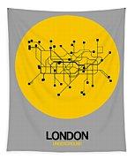 London Yellow Subway Map Tapestry