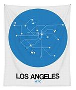 San Francisco Blue Subway Map Tapestry