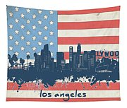 Los Angeles Skyline Flag Tapestry