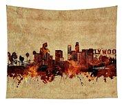 Los Angeles Skyline Vintage Tapestry