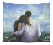 Lovers Looking Forward Brunettes Tapestry