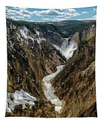 Lower Falls In Yellowstone Tapestry