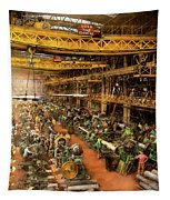 Machinist - War - At The Cannon Factory 1917 Tapestry by Mike Savad