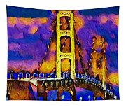 Mackinac At Dusk Tapestry