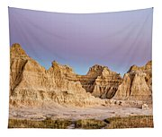 magenta Dawn in the Badlands  Tapestry