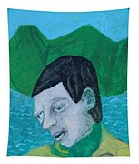 Man Leaving An Island Tapestry