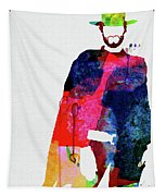 Man With No Name Watercolor Tapestry