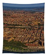 Manhattan Bronx Nyc Aerial Tapestry by Susan Candelario