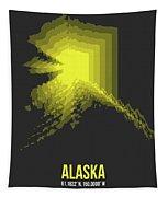 Map Of Alaska Tapestry