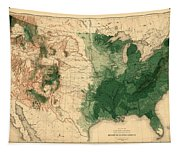 Map Of American Forests 1883 Tapestry