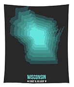 Map Of Wisconsin 3 Tapestry