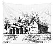 Marcus Daly Tammany Barn Hamilton Montana Tapestry