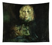 Marion With Cat Tapestry