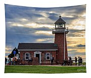 Mark Abbott Memorial Lighthouse And Santa Cruz Surfing Museum Tapestry