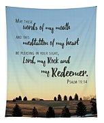 Meditation Of My Heart Tapestry