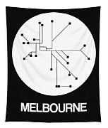 Melbourne White Subway Map Tapestry