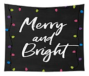 Merry And Bright 2- Art By Linda Woods Tapestry