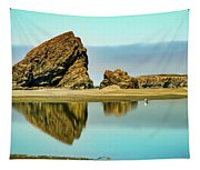 Meyers Beach Reflections - Oregon  Tapestry