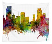 Miami Florida Skyline Panoramic Tapestry