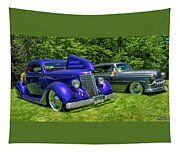 Mild Customs 1936 Ford And 1953 Chevy Tapestry