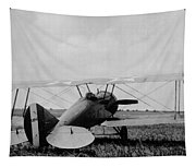 Military Biplane - Marine Flying Field - 1918 Tapestry