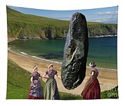 Milkmaids At The Monolith Tapestry