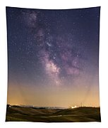 Milky Way In Val D'orcia Tapestry