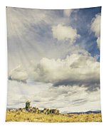 Minimal Mountaintop Meadow Tapestry