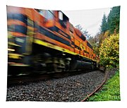 Missed The Train Tapestry