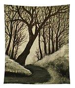 Misty Dawn In Early Winter Tapestry