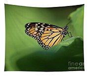 Monarch On Milkweed Tapestry