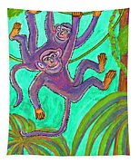 Monkeys On Creepers Tapestry
