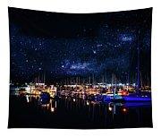 Monterey Bay At Night Tapestry