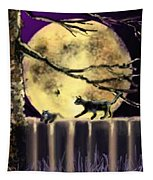 Moon Cats Tapestry