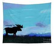 Moose - At - Sunset Tapestry
