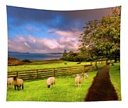 Morning Grazing Painting Tapestry