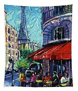 Morning In Paris Tapestry