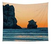 Morro Bay Sunset Tapestry