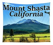 Mount Shasta California Tapestry