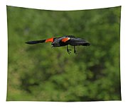 Mr. Red-winged Blackbird In-flight Tapestry