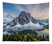 Mt Assinniboine Sunset Tapestry