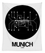Munich Black Subway Map Tapestry