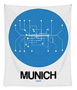 Munich Blue Subway Map Tapestry