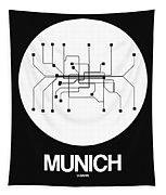 Munich White Subway Map Tapestry
